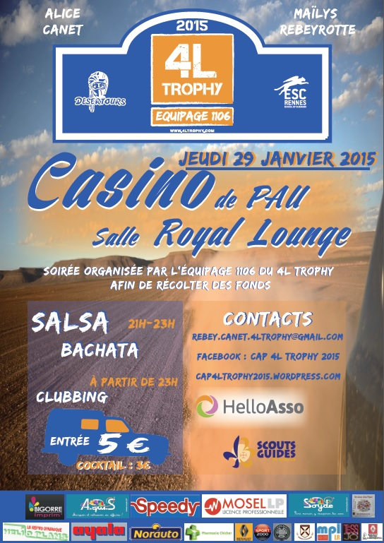 Affiche salsa 4L Trophy